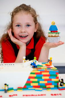 Aoife Heaney (7) from Bayside Junior School, Dublin. Photo: Maxwells