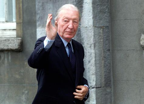 Charles Haughey arrives at the Moriarty Tribunal in Dublin Castle. Photo: Frank McGrath