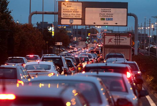 Dublin drivers waste eight days of their lives each year in traffic congestion. Stock image