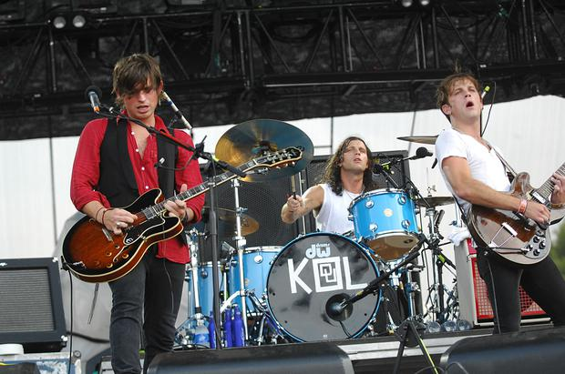 Kings of Leon perform during the third and final day of Lollapalooza at Grant Park on August 5, 2007 in Chicago, Illinois. (Photo by Jeff Gentner/Getty Images)