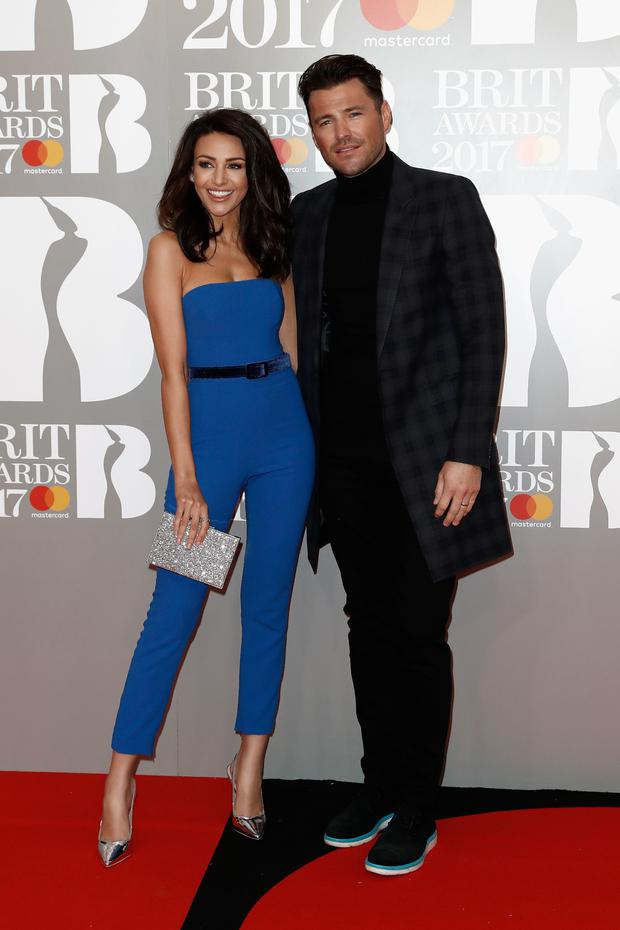 LMichelle Keegan and Mark Wright attend The BRIT Awards 2017 at The O2 Arena on February 22, 2017 in London, England. (Photo by John Phillips/Getty Images)