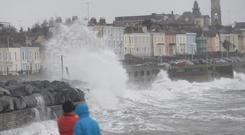 Big waves today in Dun Laoghaire Co.Dublin today due to high winds. Photo: Justin Farrelly.