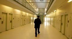 There are currently 166 prison officers under investigation for alleged misconduct across the Irish Prison Service. Stock image