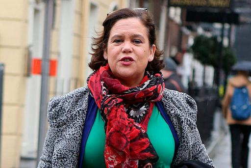 Sinn Féin's Mary Lou McDonald at Leinster House. Photo: Tom Burke