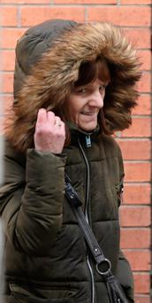 Christina Mulhall, 58yrs, of Lower Sean McDermott Street, Dublin pictured leaving the Four Courts yesterday after she appeared before the Dublin District Court in relation to social welfare fraud offences..Pic: Collins Courts