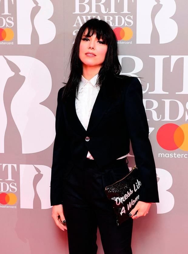 Imelda May attending the Brit Awards at the O2 Arena, London.