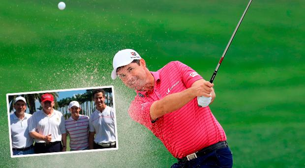 Harrington said he would welcome a round of golf with Donald Trump