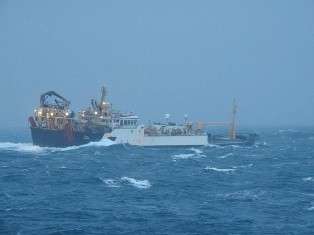 The rescue off the South West Coast. Picture: Irish Defence Forces