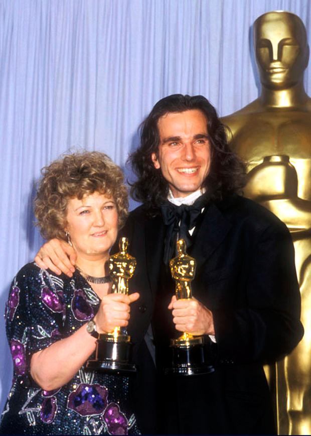 Brenda Fricker and Daniel Day Lewis during 62nd Annual Academy Awards at Music Center in Los Angeles, California, United States. (Photo by Barry King/WireImage)