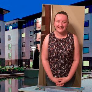 Student Accommodation in DCU and inset Molly Boggan