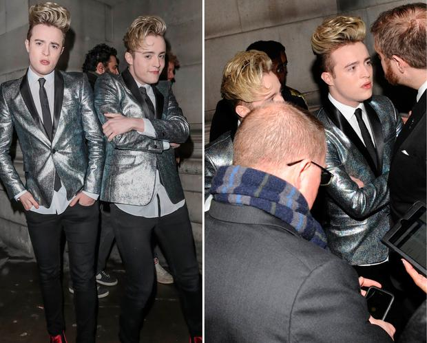 Jedward at the Brits