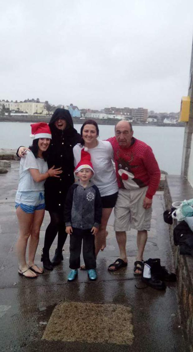 The Costello family swim in Sandycove every year
