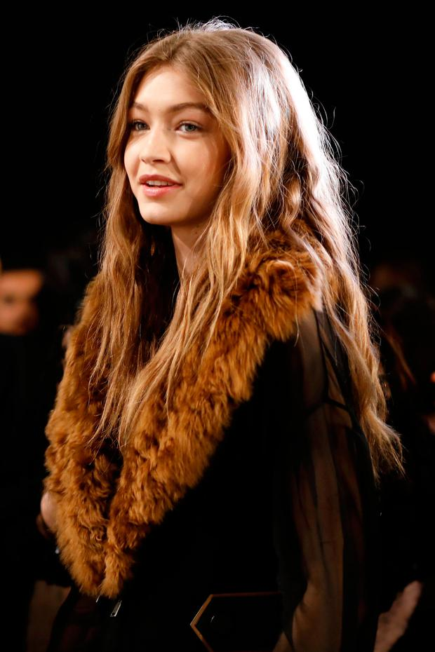 Gigi Hadid is seen backstage ahead of the Fendi show during Milan Fashion Week Fall/Winter 2017/18 on February 23, 2017 in Milan, Italy. (Photo by Tristan Fewings/Getty Images)