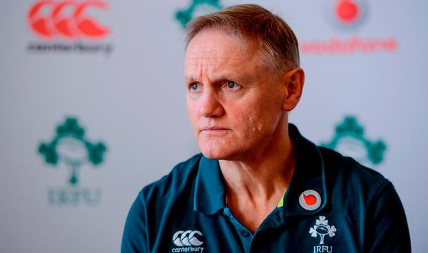 Ireland head coach Joe Schmidt during a press conference at Carton House in Maynooth, Co Kildare. Photo by Seb Daly/Sportsfile