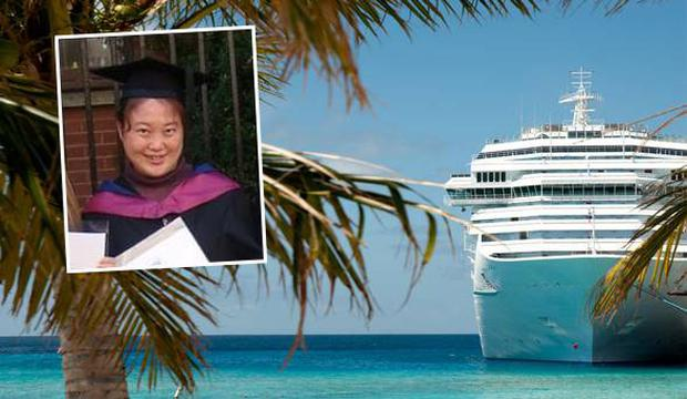 Li Yinglei (inset) disappeared during a Mediterranean cruise with her husband and two young children. Credit: Facebook