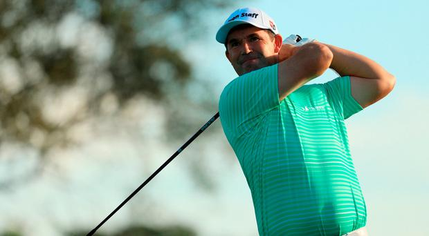 Padraig Harrington hits his tee shot from the 11th at the Honda Classic. Photo by Mike Ehrmann/Getty Images