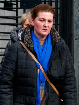 Marije Nika leaving court after the hearing. Photo: CourtPix