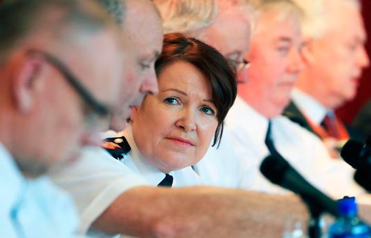 Garda Commissioner Nóirín O'Sullivan pictured yesterday at Griffith Conference Centre for the quarterly meeting of Garda management with the Policing Authority. Photo: Colin Keegan
