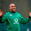 Simon Zebo of Ireland during squad training at Carton House in Maynooth