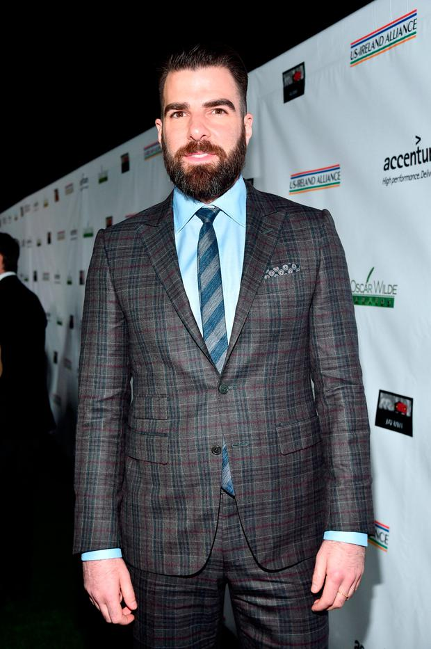 Honoree Zachary Quinto attends the 12th Annual US-Ireland Aliiance's Oscar Wilde Awards event at Bad Robot on February 23, 2017 in Santa Monica, California. (Photo by Alberto E. Rodriguez/Getty Images for US-Ireland Alliance )
