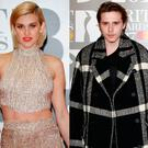 Ashley Roberts, left, and Brooklyn Beckham, right