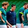 Jonathan Sexton of Ireland during the captain's run at the Aviva Stadium in Dublin. Photo by Ramsey Cardy/Sportsfile
