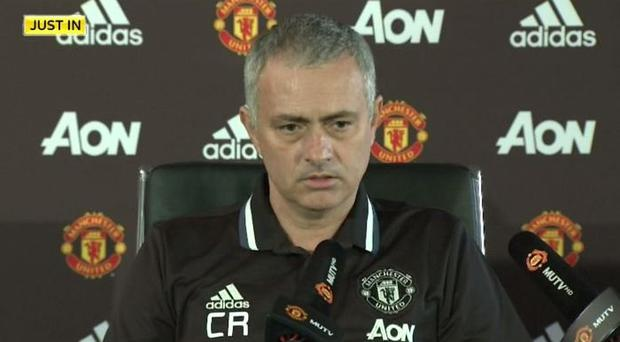 Jose Mourinho's top included the initials 'CR' after Claudio Ranieri's sacking
