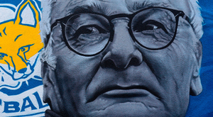 A mural of Claudio Ranieri in Leicester city centre. Photo: Chris Radburn/PA Wire