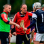 Cuala manager Mattie Kenny calms tempers during their Dublin SHC final Photo: Daire Brennan/Sportsfile