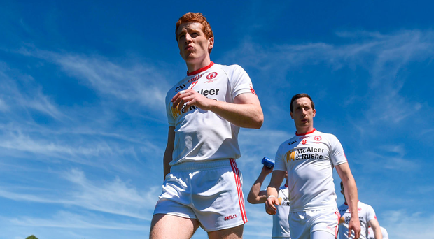 Peter Harte leads his Tyrone teammates before last year's Ulster final. The provincial structures have so are remained sacrosanct Photo: Ramsey Cardy/Sportsfile