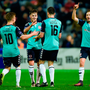 Derry City's Nathan Boyle celebrates with team-mates. Photo: Seb Daly/Sportsfile