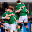 Ireland players celebrate following their win Photo: Ramsey Cardy/Sportsfile