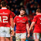 Munster's Conor Oliver reacts after his side conceded a try Photo: Diarmuid Greene/Sportsfile