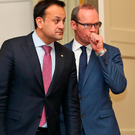 Leo Varadkar and Simon Coveney (right). Photo: Colin Keegan/Collins Dublin