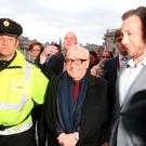 Film director Martin Scorsese arrives at Trinity College in Dublin, prior to being awarded a gold medal by students of the debating society, the Philosophical Society: Brian Lawless/PA Wire