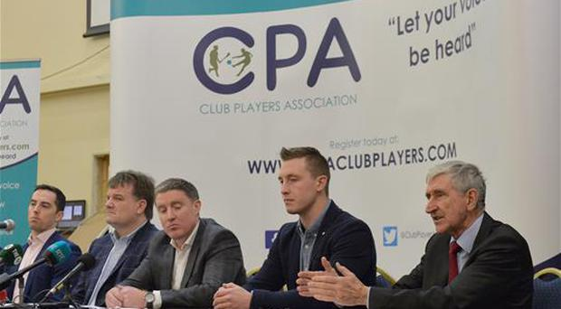 9 January 2017; CPA members from left, Niall Corcoran, Aaron Kernan, CPA Executive member and Grassroots Coordinator, Declan Brennan, Secretary CPA, left, Micheal Briody Chairman CPA, and Kevin Nolan, CPA Executive Member and Player Welfare Coordinator and Liam Griffin, CPA Executive Member and Hurling Fixtures Coordinator