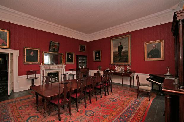 The dining room at Bermingham House was designed for large-scale entertaining