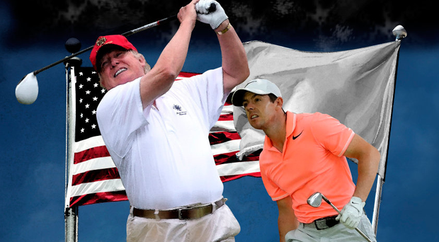 'The latest spasm of feigned outrage has been provoked by Rory McIlroy's acceptance of an invitation to play golf with US President Donald Trump.'