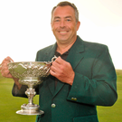 Pat Murray after winning the South of Ireland Championship at Lahinch in 2012. Photo: Diarmuid Greene/Sportsfile