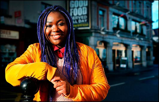 POSITIVE ATTITUDE: Zainab Boladale feels that on a whole Irish people are welcoming and accepting. Photo: Steve Humphreys