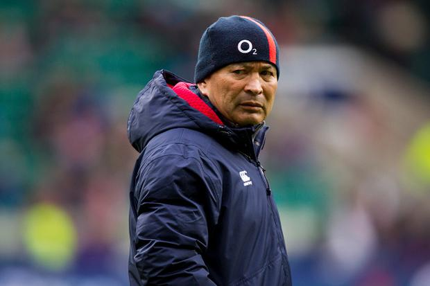 February 26th 2017, Twickenham, London, England; 6 Nations International rugby, England versus Italy; England Director of Rugby Eddie Jones (Photo by Graham Wilson/Action Plus via Getty Images)