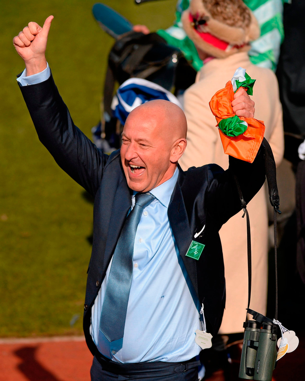 Philip Reynolds will be hoping for more reasons to celebrate at Cheltenham. Picture credit: Seb Daly / SPORTSFILE