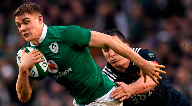 Garry Ringrose in action for Ireland