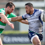 Connacht's Bundee Aki is tackled by Alberto Sgarbi of Benetton Treviso during the Guinness PRO12 match at Stadio Monigo. Photo: Roberto Bregani/Sportsfile