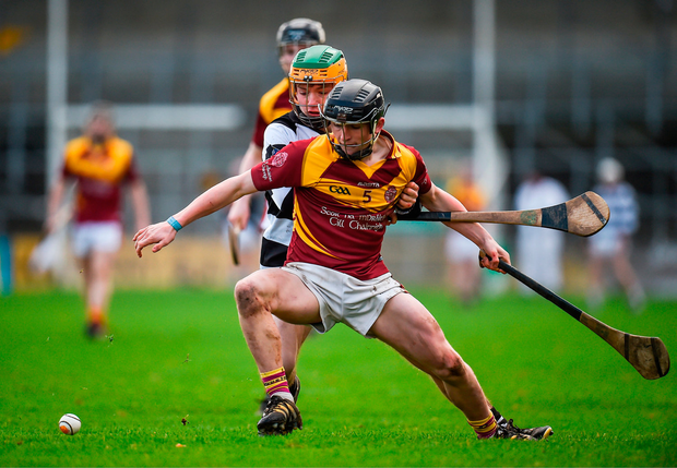Mickey Butler of Kilkenny CBS in action against Evan Shefflin of St Kieran's College. Photo by Seb Daly/Sportsfile