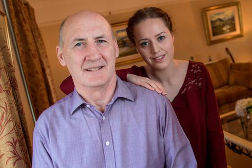 Marie McCabe with her father Gay McCabe. Photo: Fergal Phillips