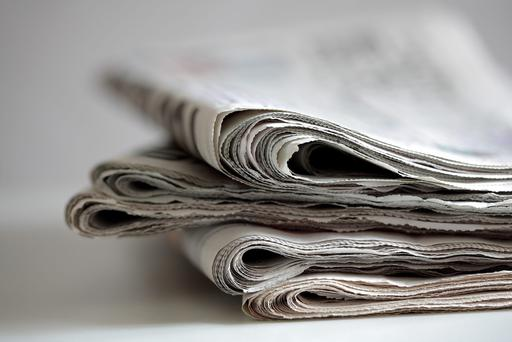 The newspaper has an average daily circulation of about 30,100 copies, and the figure has been falling. (stock photo)