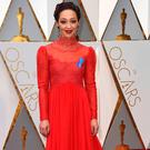 Ruth Negga on the red carpet at the Oscars. Photo: Jordan Strauss/Invision/AP