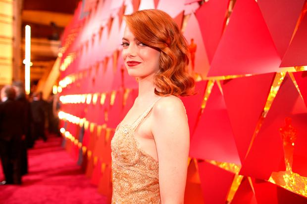Actor Emma Stone attends the 89th Annual Academy Awards at Hollywood & Highland Center on February 26, 2017 in Hollywood, California. (Photo by Christopher Polk/Getty Images)
