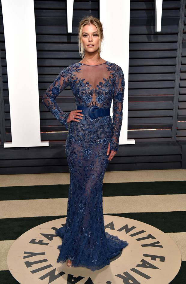 Model Nina Agdal attends the 2017 Vanity Fair Oscar Party hosted by Graydon Carter at Wallis Annenberg Center for the Performing Arts on February 26, 2017 in Beverly Hills, California. (Photo by John Shearer/Getty Images)